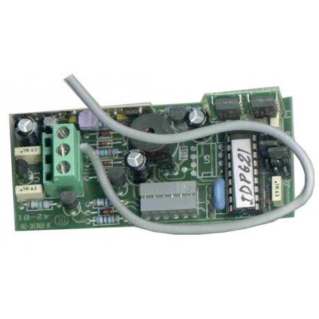 RX254-RC - Receptor de radio monocanal de insertar, código evolutivo (254 códigos)