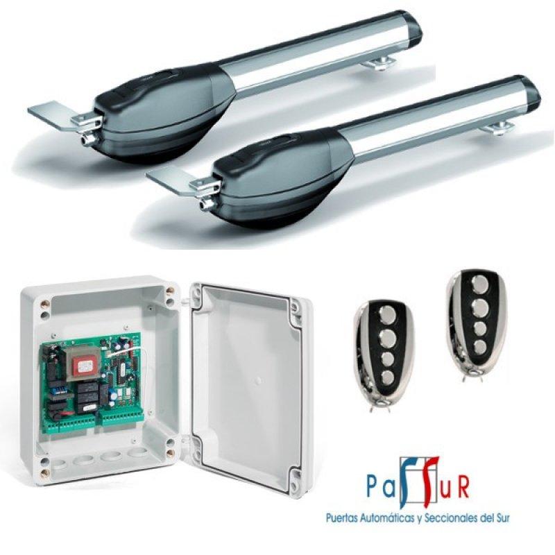 Kit motor para puerta batiente 2 hojas al mejor precio for Precio de puertas enrollables