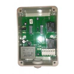 RX BASE220 - Receptor de radio bicanal en caja 220 V